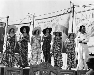1930 - Ladies in beach pajamas on the CNE Midway