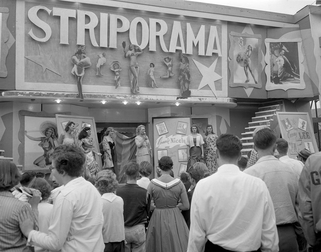 1954 - Striporama on The Midway