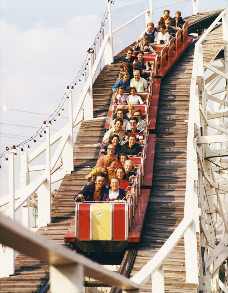 1970 - The Flyer roller coaster