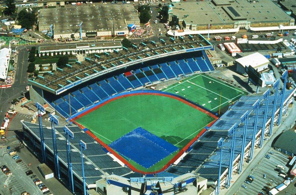 1978/87 - Overhead view of Exhibition Stadium