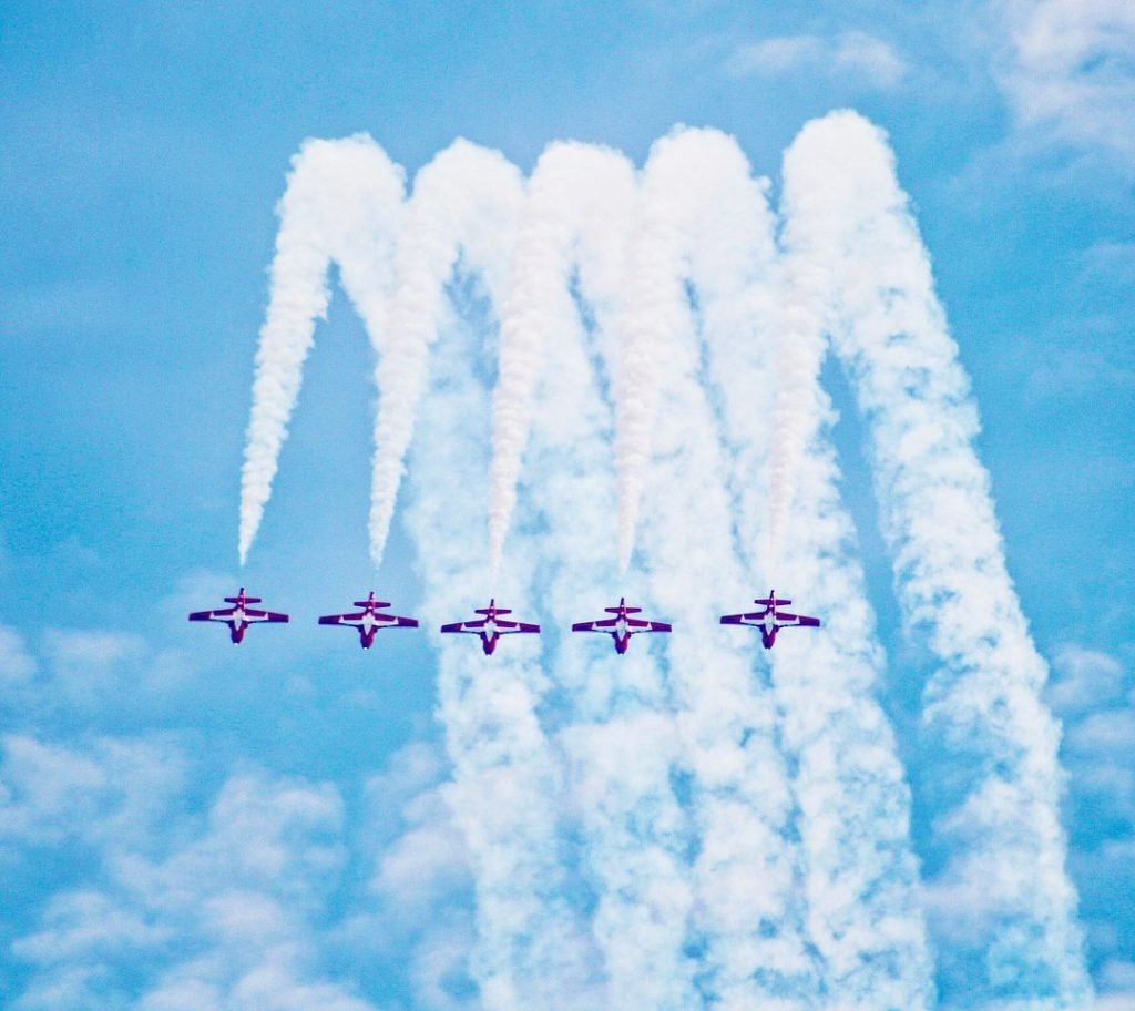 2010's - CF Snowbirds at the Canadian International Air Show at the CNE