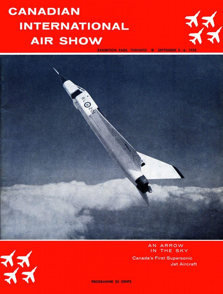 1958 - Canadian International Air Show program cover