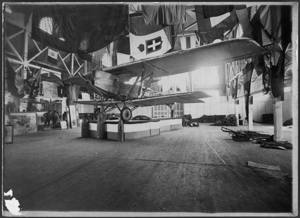 """1919 - Junkers J-1, aka the """"Sheet Metal Donkey"""" at the Canadian National Exhibition"""