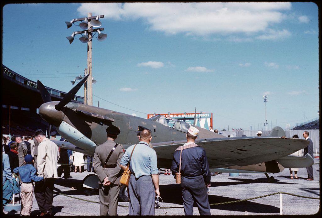 1959 - Spitfire aircraft on display at the CNE