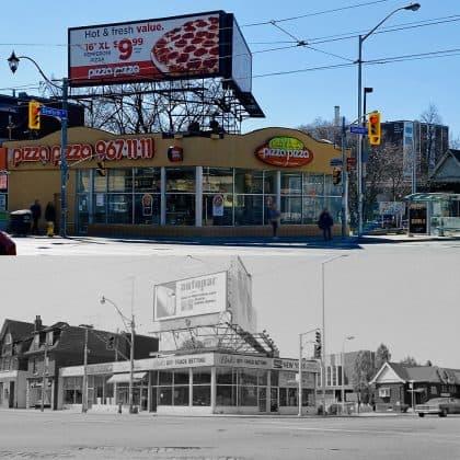 2020/1972 - Pizza Pizza at Broadview Ave & Danforth Ave, southwest corner