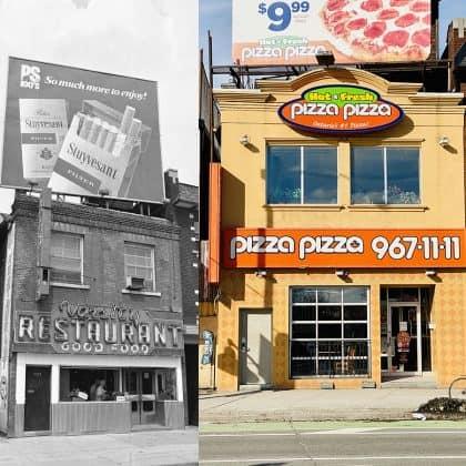 1972/2020 - Varsity Restaurant/Pizza Pizza at Bloor St W & Spadina Rd, northeast corner