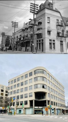 1945/2020 - Rosedale Hotel/Archdiocese of Toronto at Yonge St & Shaftesbury Ave, northeast corner