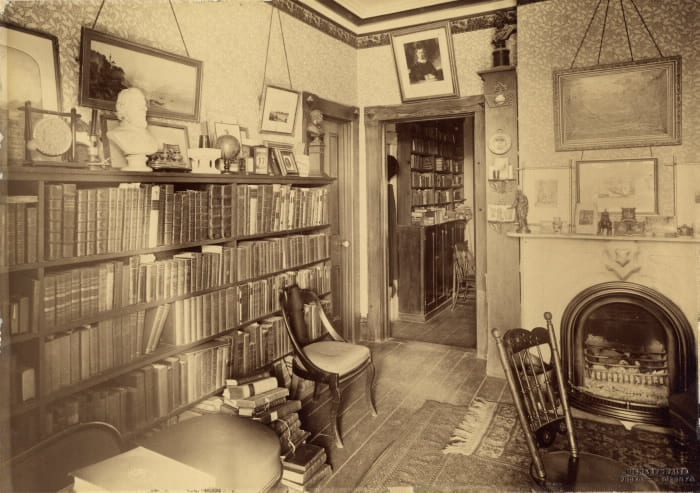 1900 - Scadding House, west side of Dr Henry Scadding's library