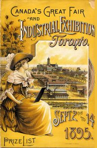 1895 - Canada's Greatest Fair and Industrial Exhibition Toronto prize list program cover