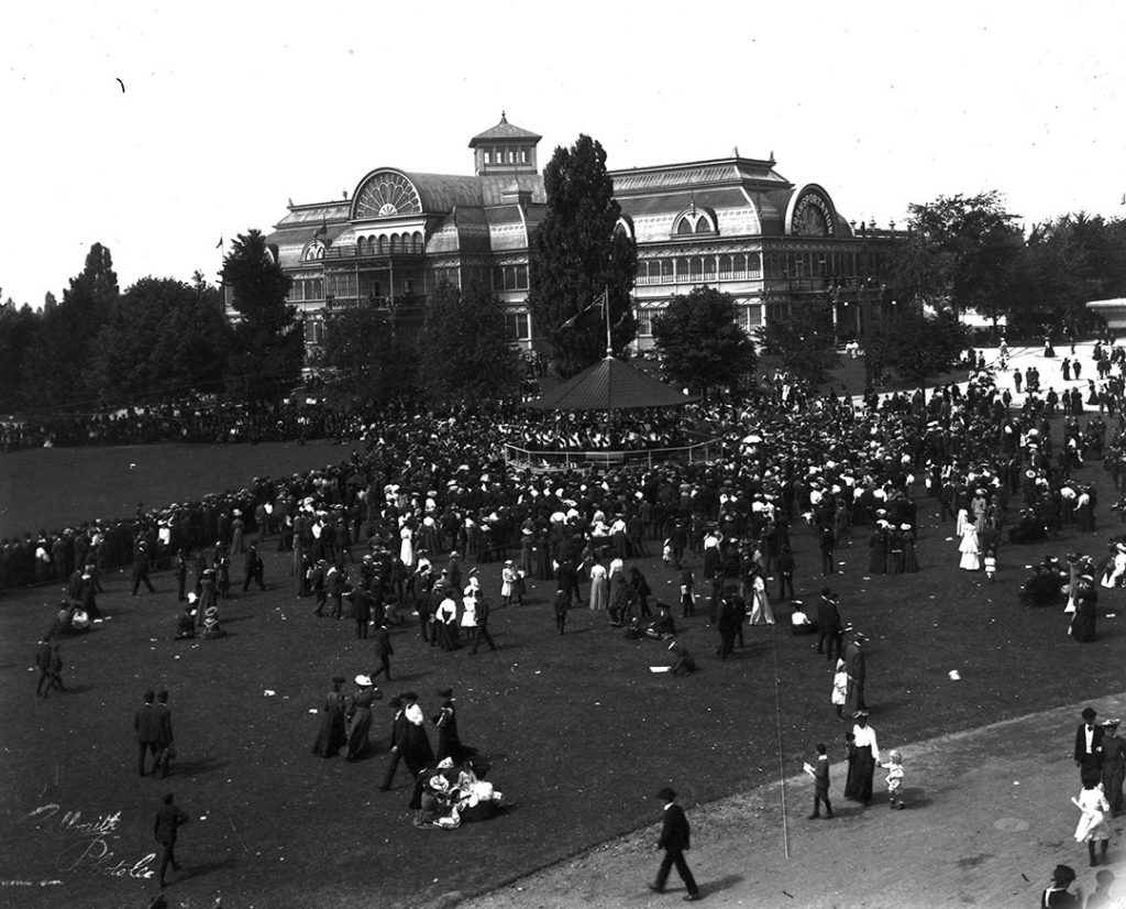 1890's - The Crystal Palace, where the Music Building stands today