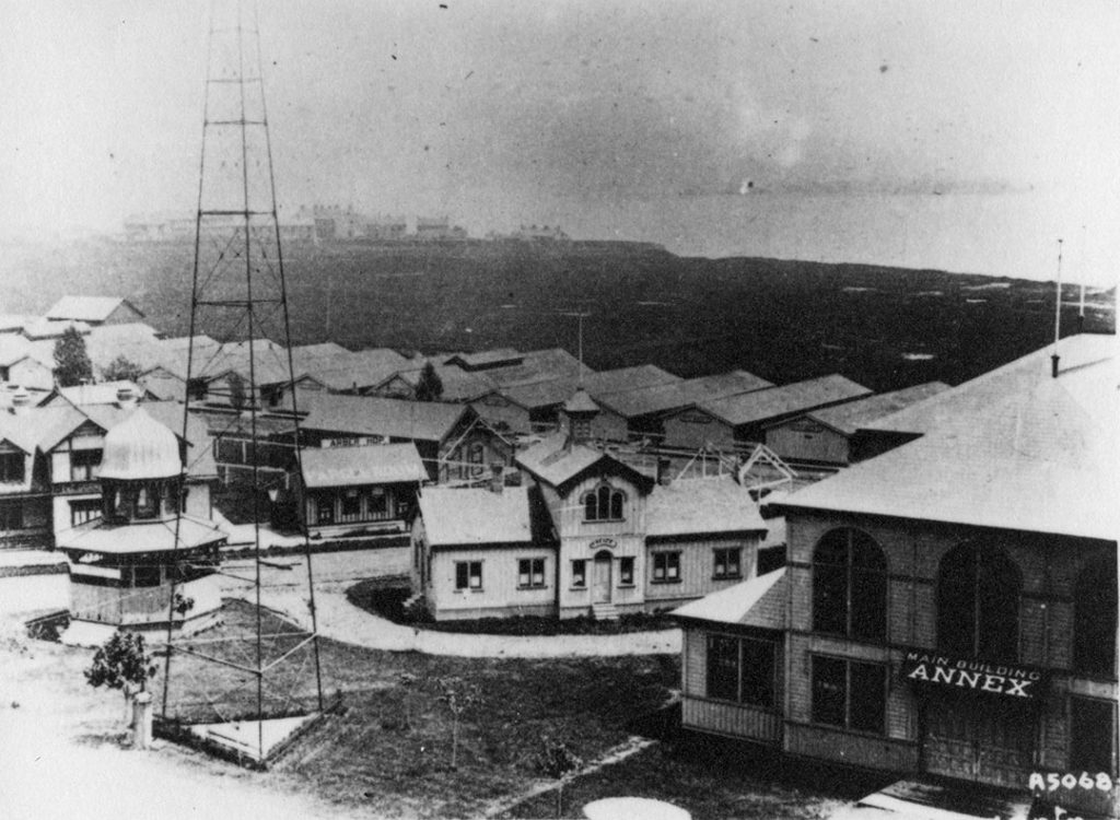 Prior to 1892 - The first buildings at Exhibition grounds