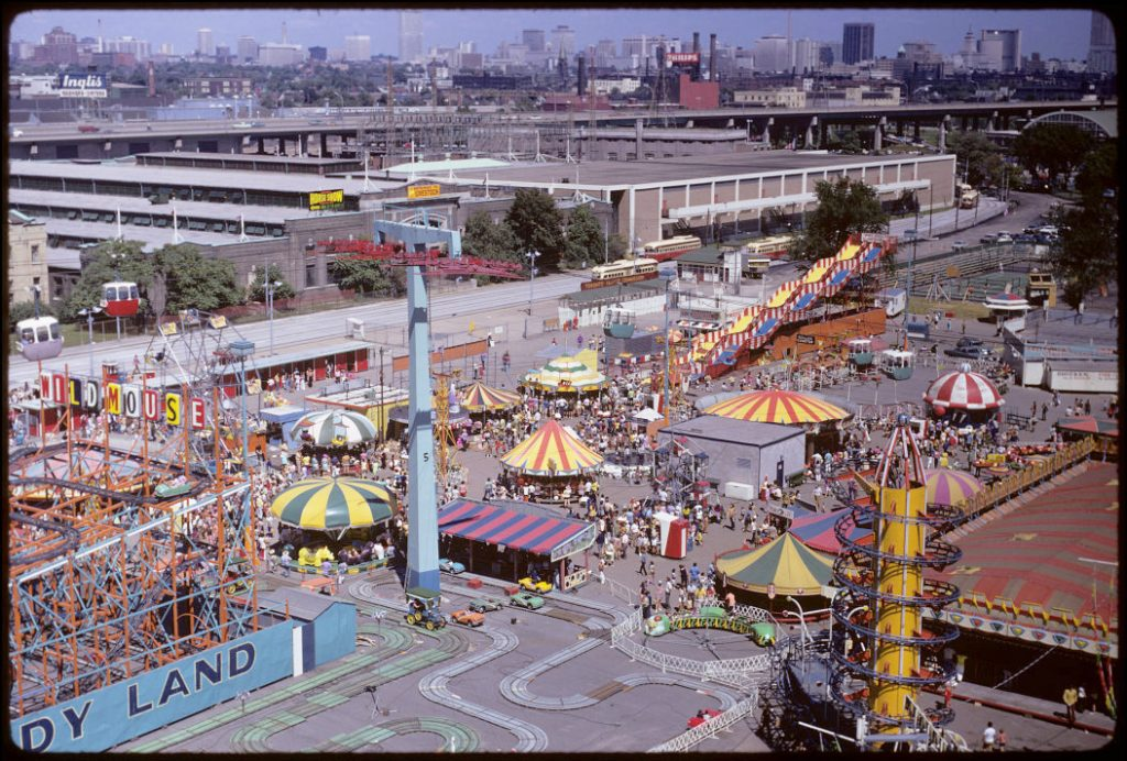 1972 - Overhead view of CNE grounds and The Midway