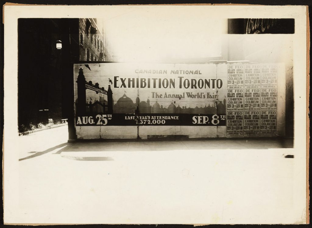 1920/26 - Ad for the Canadian National Exhibition