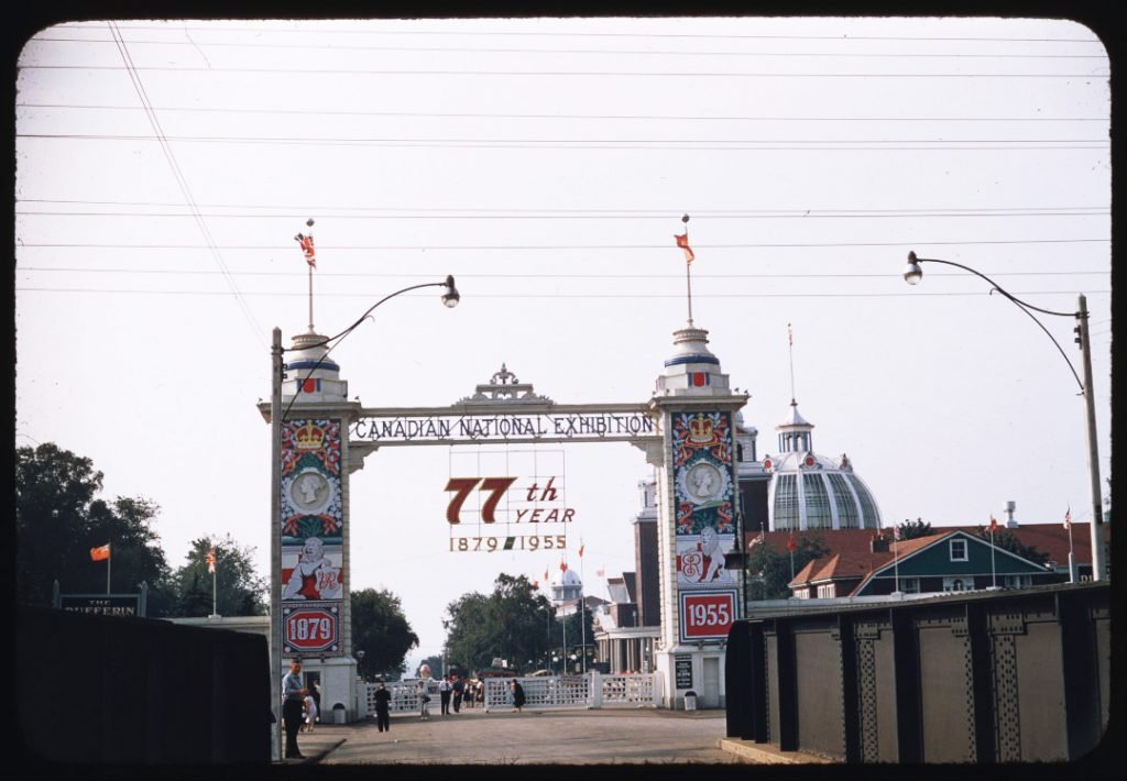 1955 - The Dufferin Gate on the 77th year of the CNE