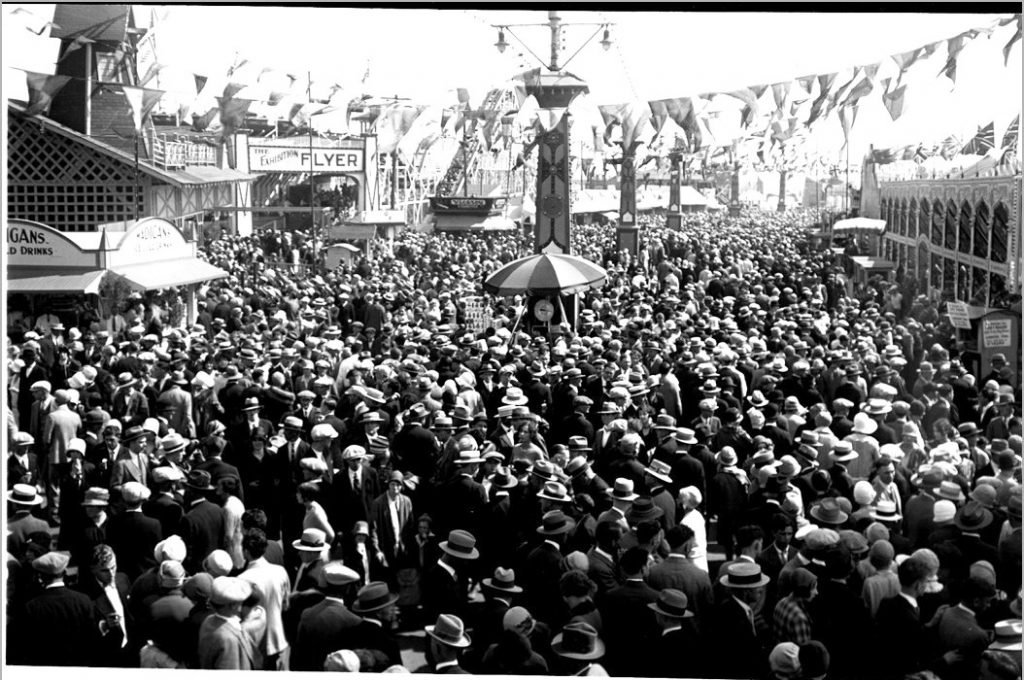 1928 - The CNE Midway with The Flyer in the background