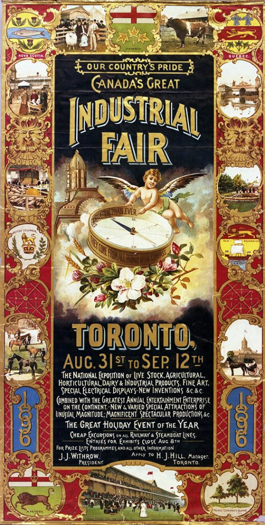 1896 - Program cover for Canada's Great Industrial Fair