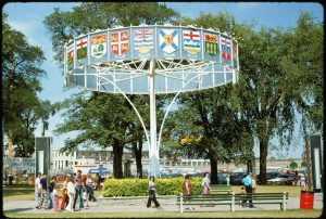 1974 - Provincial flag display at Exhibition grounds