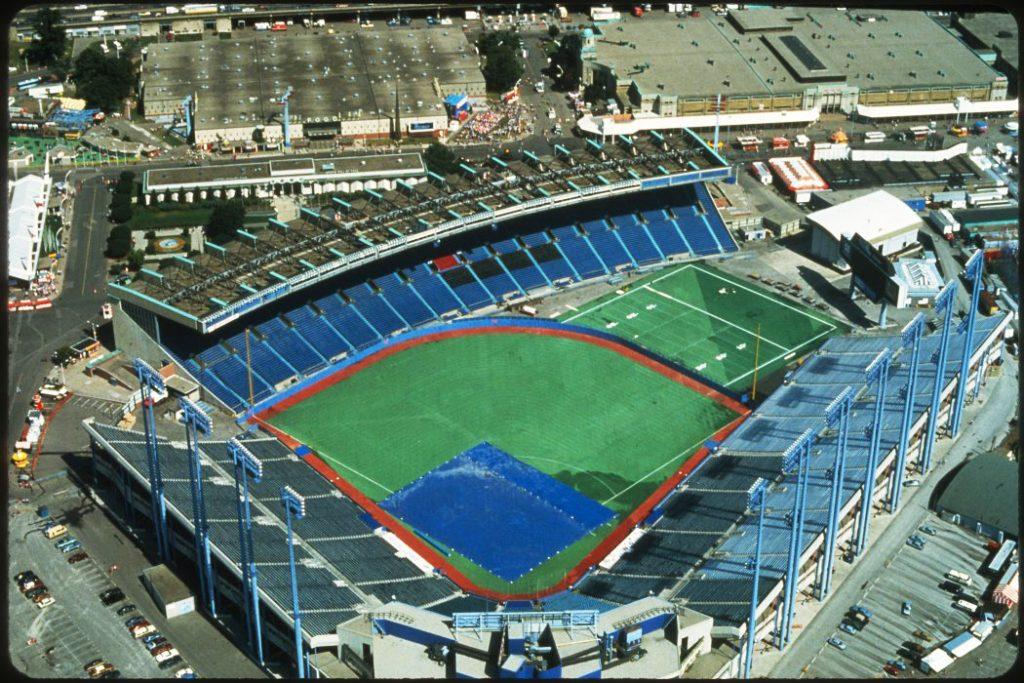 1980's - Aerial view of Exhibition Stadium