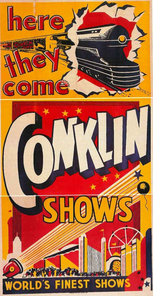 1940 - Conklin Shows poster