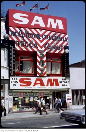 1971 - Sam The Record Man was at 259 Yonge St