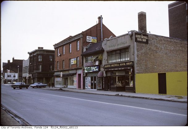 1971 - Albert Britnell Book Shop was once at 765 Yonge St