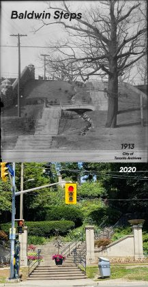1913/2020 - Baldwin Steps are located at Spadina & Davenport Rds (City of Toronto Archives)