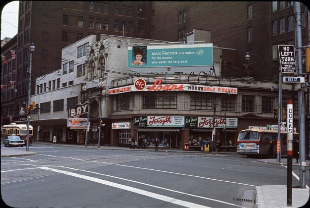 1960's - Bay Theatre, formerly Colonial Theatre once at 45 Queen St W, east of Bay St on south side - closed 1965 however building no longer exists