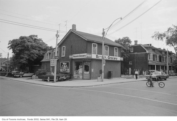 1972 – Bazos's Grocery was once at 161 Winchester St (at Sumach St) - now Park Snacks
