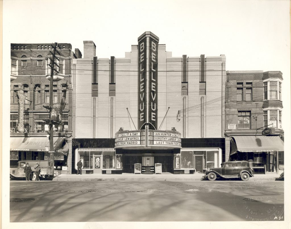 1937 - Bellevue Theatre later Lux Burlesque once at 360-362 College St, north side west of Brunswick Ave - opened from 1937 to 1958, building no longer exists