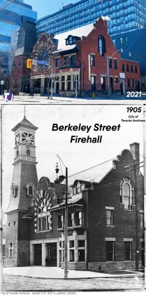 2021/1905 – Once the Berkeley Street Firehall No.4 at 70 Berkeley St - Now The Alumnae Theatre Company