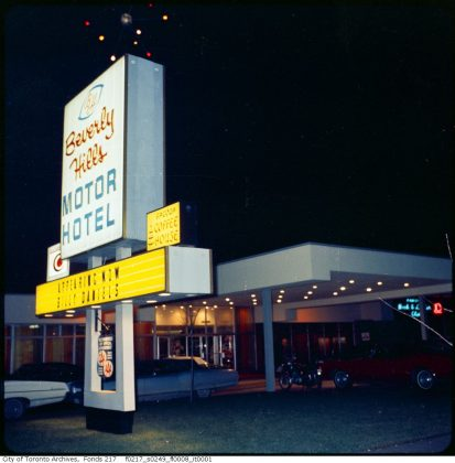 1968 - Beverly Hills Motor Hotel once at 1677 Wilson Ave, west of Jane St