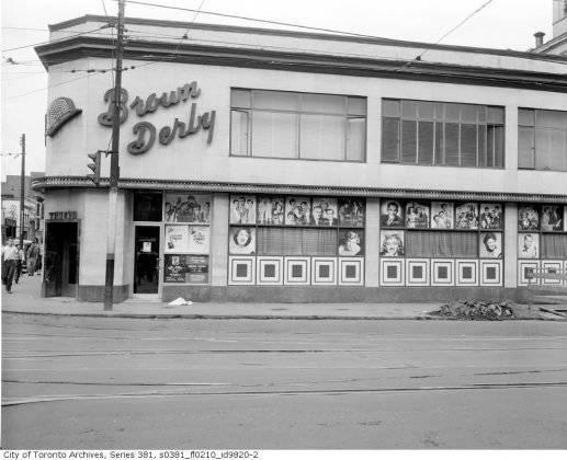 1950 - Brown Derby Tavern once at Yonge and Dundas Sts, northeast corner