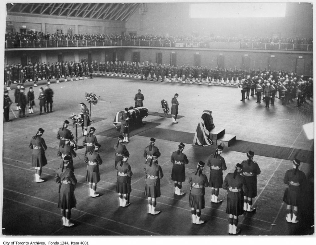 1939 - The funeral of Colonel Sir Henry Pellatt at the University Ave Armouries