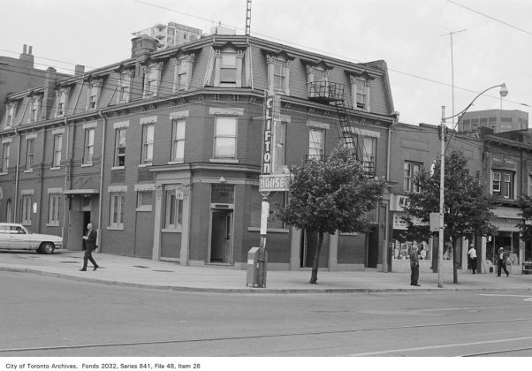 1972 – Clifton House was once at 298 Queen St W (at Soho St) - now Black Bull Tavern