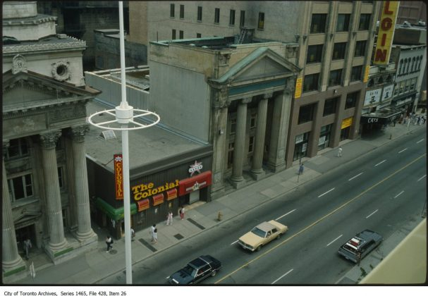 1980 - Colonial Tavern once at 201 Yonge St, north of Queen St