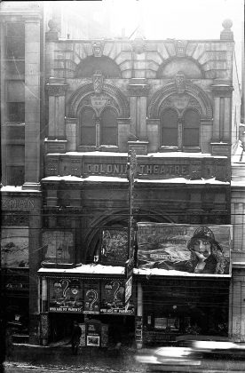 1923 - Colonial Theatre, once at 45 Queen St W, east of Bay St on south side - opened around 1910, closed 1933, 17 years later Bay Theatre