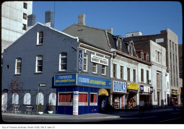 1975 - Colosseum Pizza Spaghetti House once at 372 Yonge St (at Walton St)