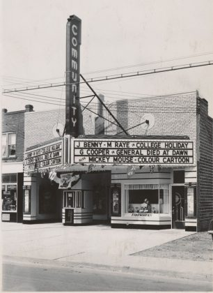 1935/37 - Community Theatre once at 1202 Woodbine Ave, north of Frater Ave on west side - opened from 1937 to 1955