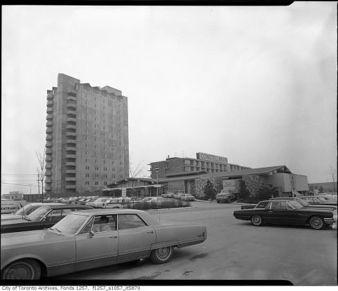 1965 - Constellation Hotel once at 900 Dixon Rd, and Carlingview Dr - building no longer exists
