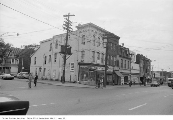 1972 - Corner Discount was once at 491 Parliament St - now Cabbagetown Corner Convenience (Parliament and Carlton Sts)