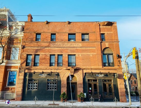 2019 - Dominion Pub and Kitchen at 500 Queen St E once Dominion Hotel (at Sumach St)