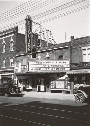 1937 - Esquire Theatre, originally Lyndhurst Theatre once at 2290 Bloor St W, east of Durie St on north side - opened from 1926 to 1955