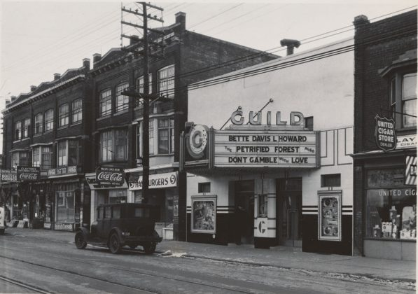 1936- Guild Theatre, originally Greenwood Theatre once at 1275 Gerrard St E, west of Greenwood Ave on south side - opened from 1926 to 1973