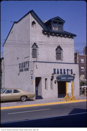 1972 – Harry's Dining Lounge was once at 518 Church St - now O'Grady's Restaurant On Church