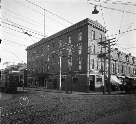 1919 - Hotel Gerrard once at Parliament St and Gerrard St E, southeast corner - building no longer exists