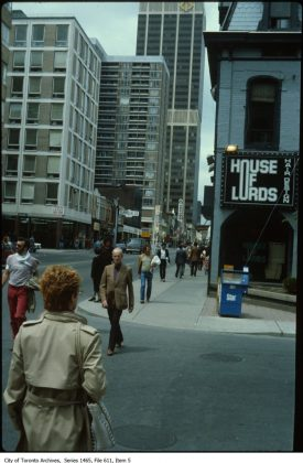 1978- House of Lords was once at 639 Yonge St