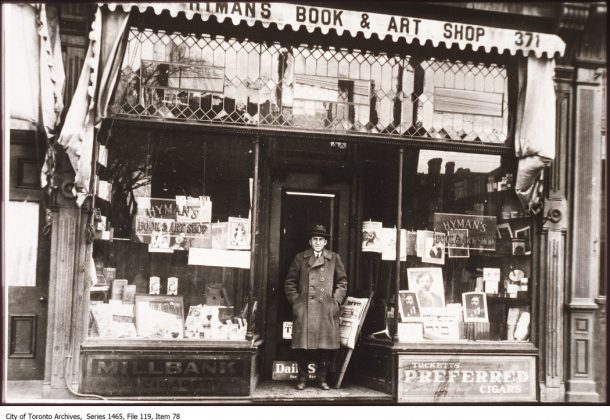 1926 - Hyman's Book & Art Shop was once at 371 Spadina Ave