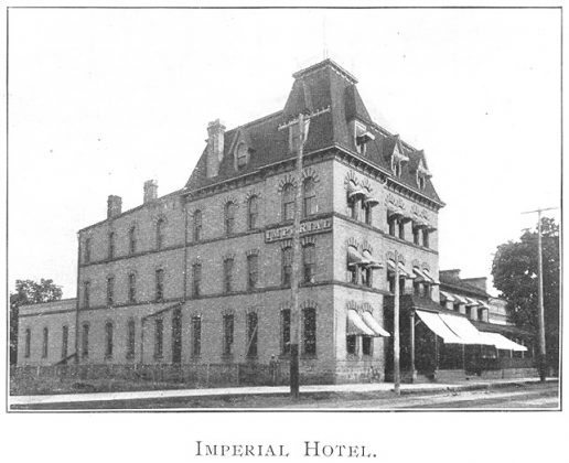 1902 - Imperial Hotel once at 52 Jarvis St, building no longer exists