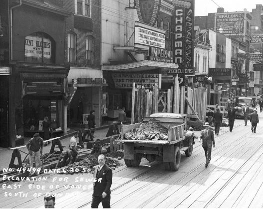 1950 - Imperial Six Theatre once at 263 Yonge St and 244 Victoria St, south of Dundas St E - now Ed Mirvish Theatre