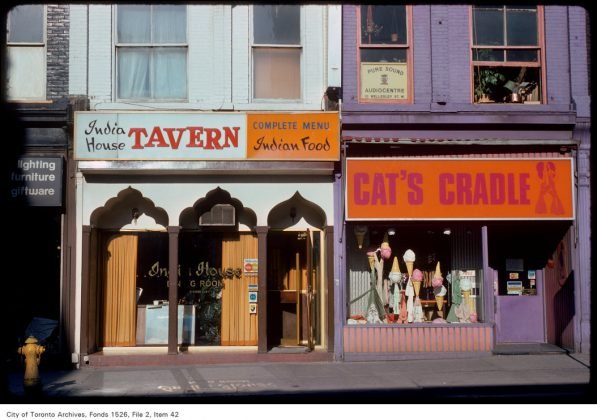 1975 - India House Tavern once at 594 Yonge St